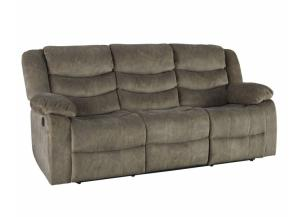 Ridgecrest Tan Double Reclining Sofa
