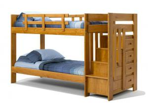 Heartland Twin Stair Bunk Bed *Mattresses Sold Separately*