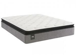 Deaton Plush Euro Pillowtop Queen Mattress and Foundation