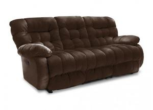 Plusher Leather Reclining Sofa