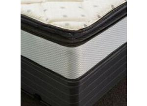 Vermillion Pillowtop Full Mattress and Low Profile Foundation