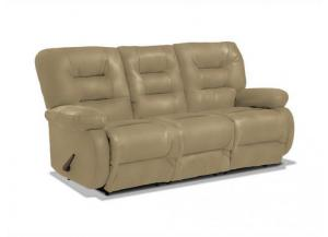 Maddox Buff Leather Reclining Sofa