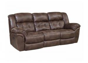 Frontier Espresso Power Double Reclining Sofa