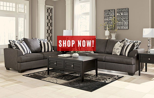 Levon Charcoal Sofa & Loveseat