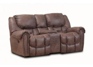 Dixie Brown Double Reclining Set - Loveseat