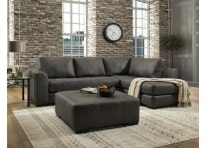 Rustic Ranch Gray Sectional (ottoman sold separately)