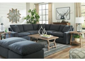 Savesto Charcoal Feather-Blend 6pc Sectional