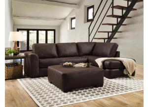 Rustic Ranch Brown Sectional (ottoman sold separately)