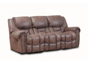 Dixie Brown Double Reclining Set - Sofa