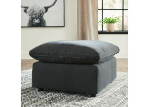 Savesto Charcoal Feather-Blend Ottoman