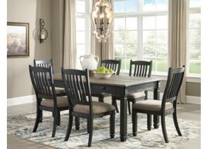 Tyler Creek Black/Gray Counter Table w/ 6 Counter Side Chairs