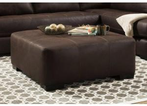 Rustic Ranch Brown Ottoman