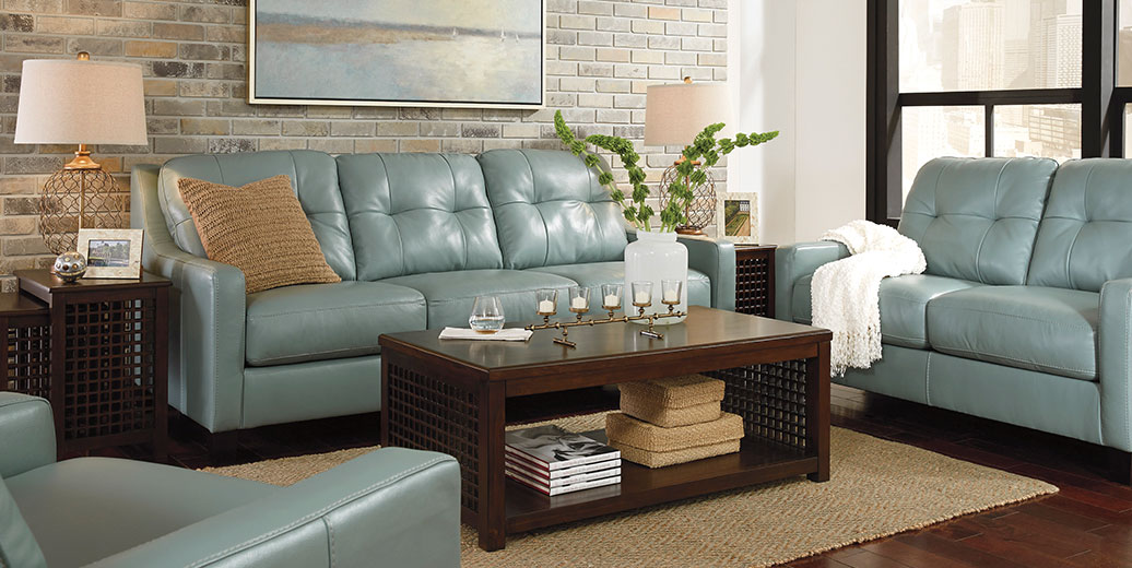 O'Kean Sky Sofa and Loveseat