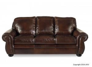 8555 100% Leather Sofa