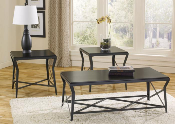 Manifield Occasional Table Set (Cocktail & 2 Ends),Furniture Wholesale to the Public