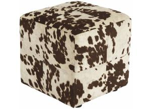 Brown/White Bremer Accent Ottoman