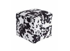 Black/White Bremer Accent Ottoman