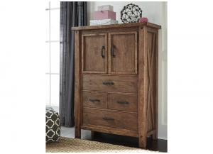 Tamilo Gray/Brown Door Chest