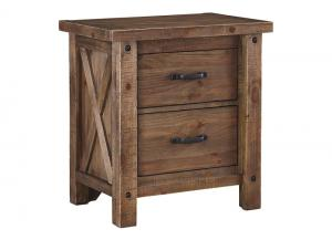 Tamilo Gray/Brown Two Drawer Nightstand