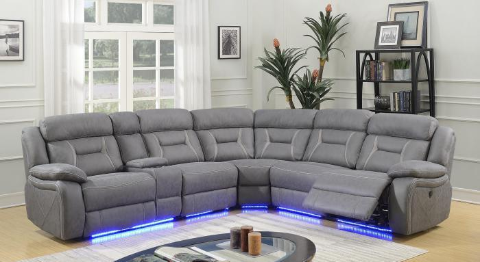 Anderson Power Reclining Sectional ,Harlem In-Store