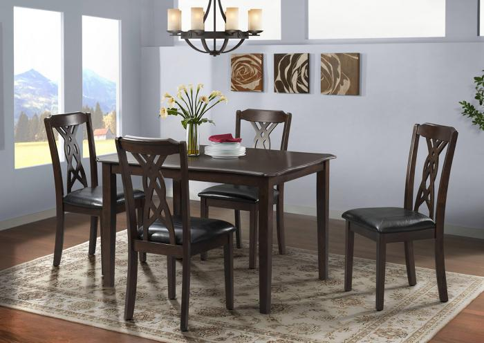 Harlem Furniture Amanda Dining Table W 4 Side Chairs