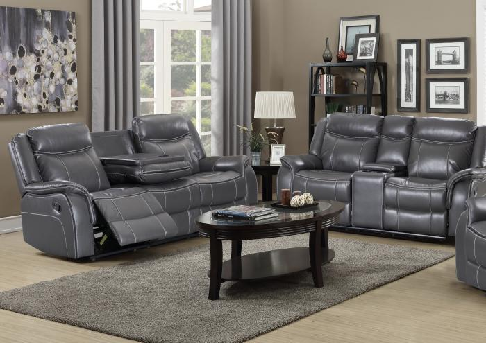 70220 Reclinig Sofa witch drop down tray & Reclining Loveseat ,Harlem In-Store