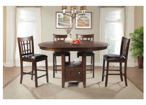 Max storage dining table and 4 stools