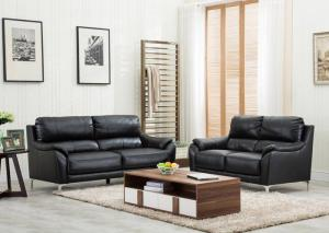 Black Sofa and Loveseat