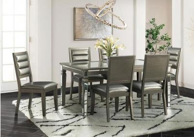 Fourteen and Half Dining Table and 6 Side Chairs