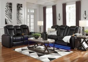 37003 Party Time Power Reclining Sofa & Loveseat with LED Light