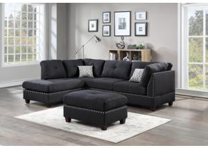 3730 Sectional With Free Ottoman