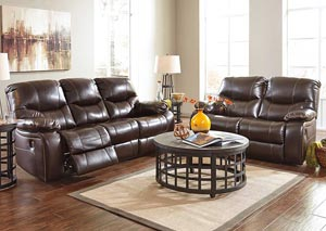 Pranas Brindle Reclining Power Sofa & Loveseat
