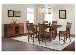 Prescott Counter Height Table and 6 Stools