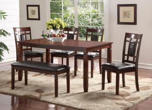 6 piece dining Table  4 chairs and bench