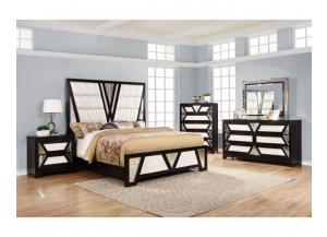 Switzerland King Bed, Dresser, Mirror and 2 night stands