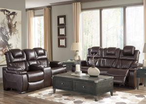 75407 Warnerton Power Reclining Sofa & Loveseat