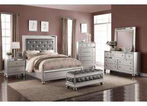 Jenna Queen Bed, Dresser, Mirror, Chest and 1 Night Stand