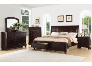 B2910 Queen Srorage Bed, Dresser, Mirror, 1 Night Stand and Chest