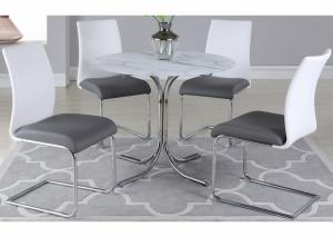 Dorothy w/Jane SC2 tone Dining Table w/4 Side Chairs