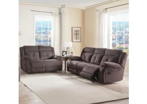 Reclining Sofa and Reclining Loveseat