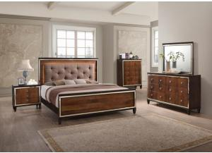 Claire Queen Bed, Dresser, Mirror, Chest and 2 Night Stands