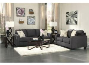 5 Piece Alenya Charcoal Package Includes Sofa & Loveseat w/ Cocktail Table & 2 End Tables
