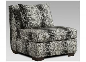Shimmer Pewter Armless Chair