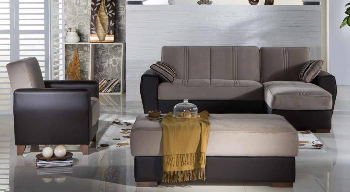 Estivo Lilyum Gray Sectional Sleeper,Sunset International