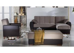 Estivo Lilyum Gray Sectional Sleeper