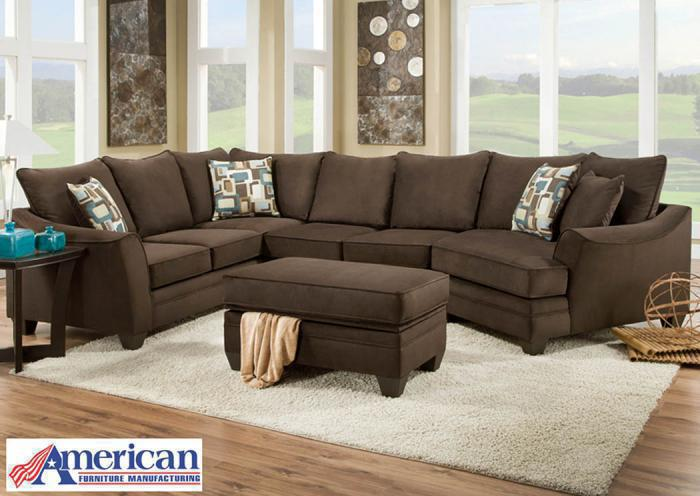 Flannel Sectional - Espresso,In-Store Products