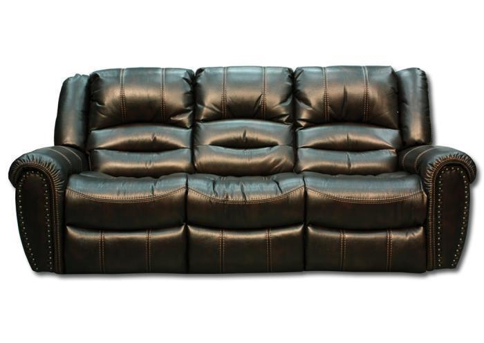 Torino Reclining Sofa, Dark Brown, Front View