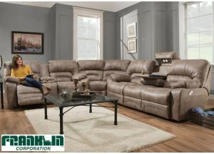 Legacy Reclining Sectional by Franklin - Cream