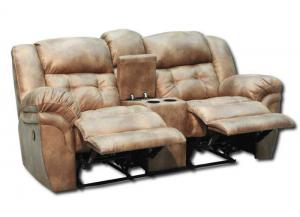 Oxford Reclining Loveseat by Homestretch - Almond