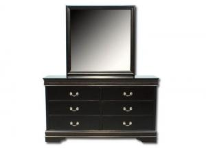 Louis Philip Dresser/Mirror - Black